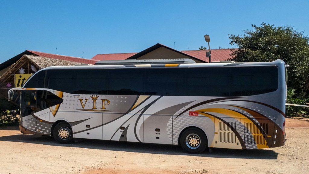 Ein VIP Bus von Hpa An nach Yangon in Myanmar