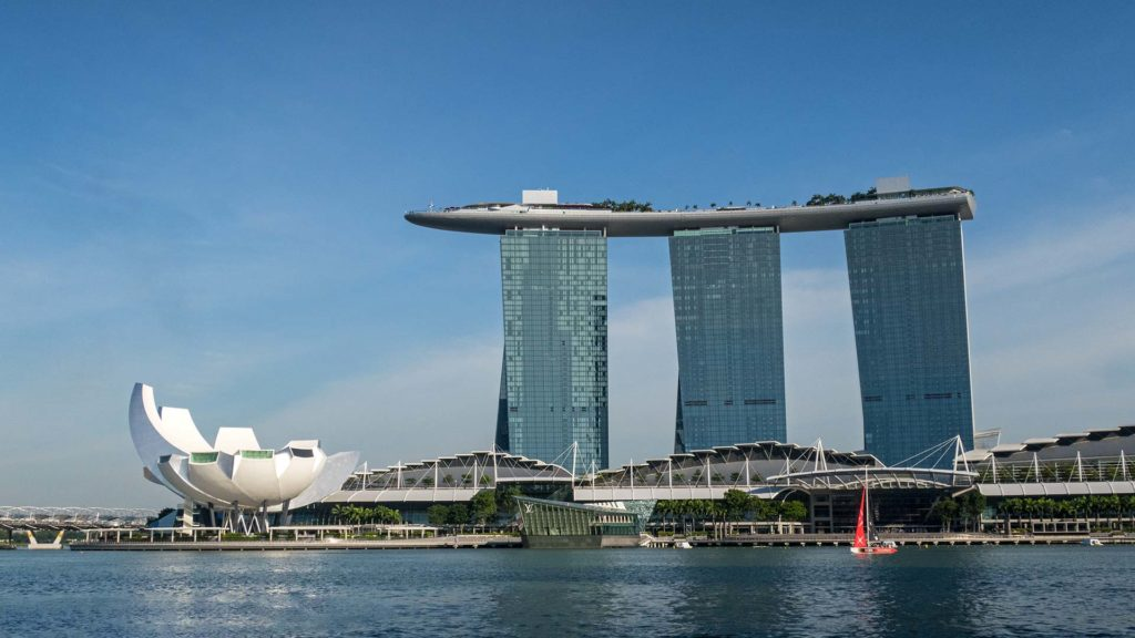 Das Marina Bay Sands, Casino und Hotel in Singapur