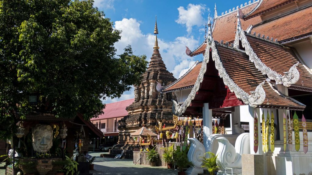 The Wat Jetlin in Chiang Mai, in the north of Thailand
