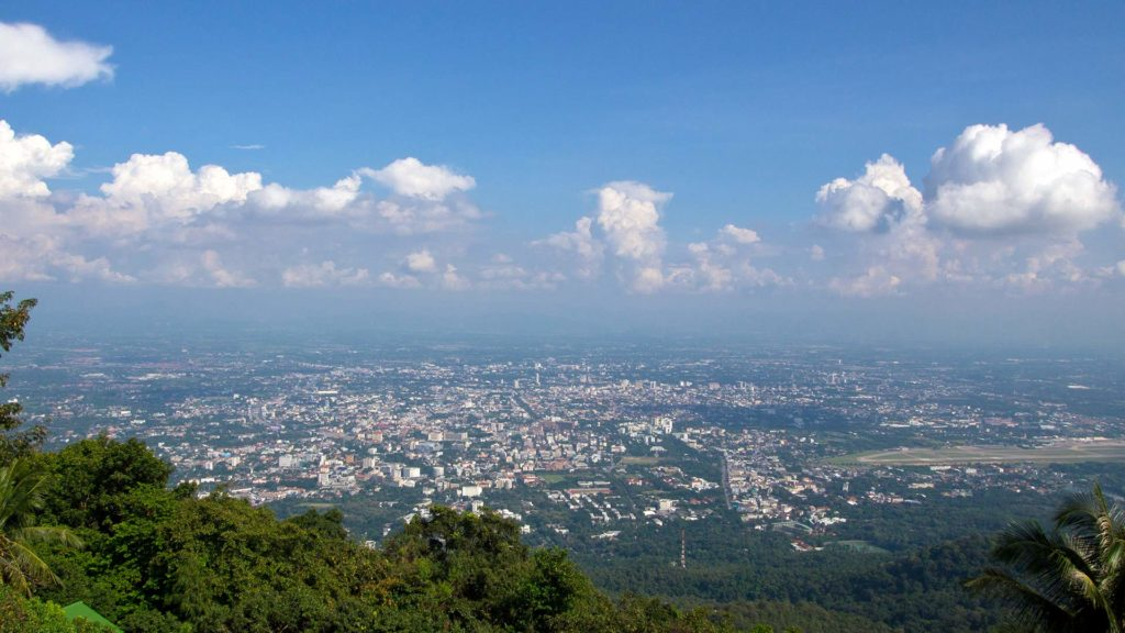 The view from Doi Suthep over Chiang Mai