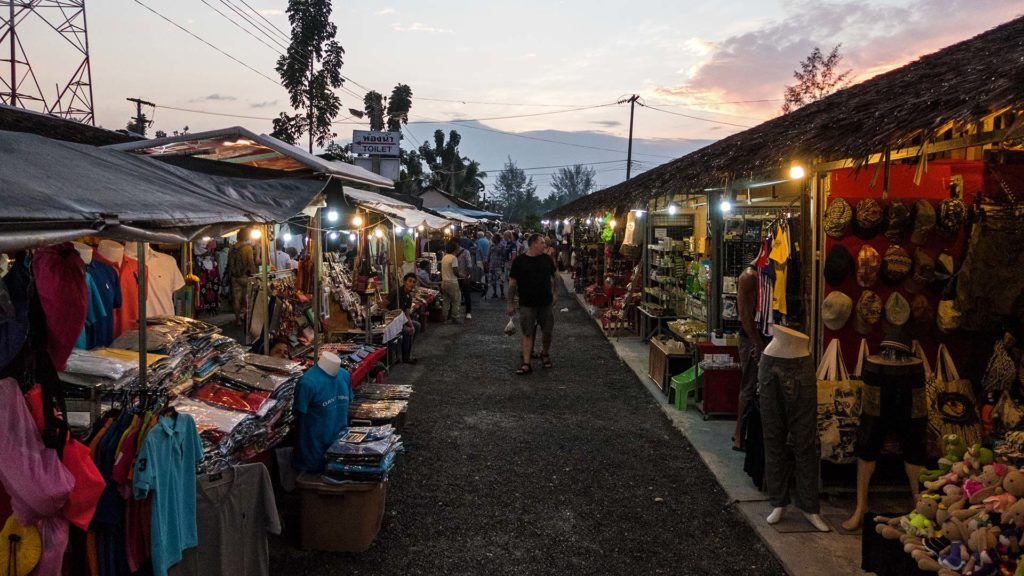 The Bang Niang night market in Khao Lak