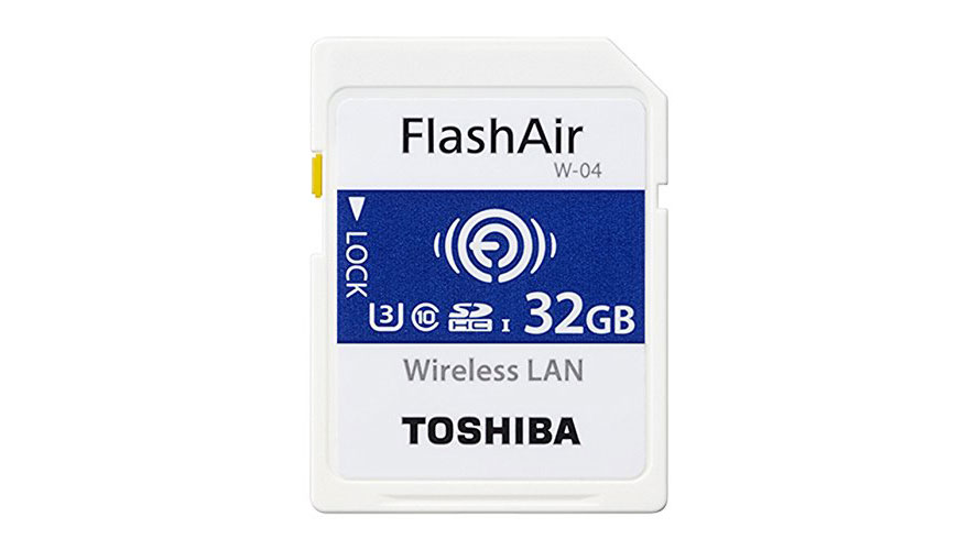 SD card with a Wi-Fi connection