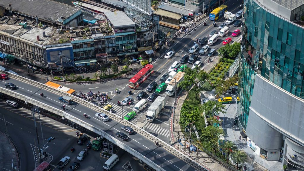 Crossing in Pratunam seen from Amari in Bangkok