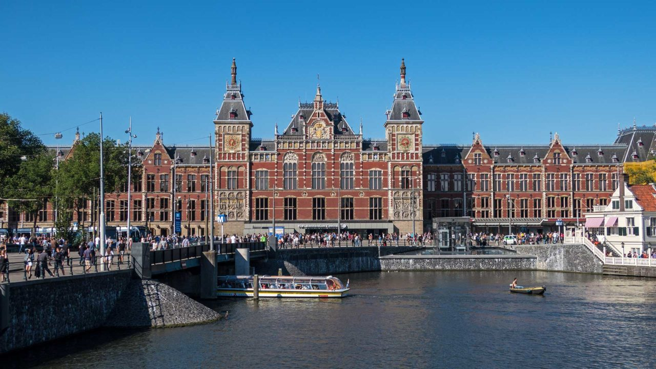 The Amsterdam Centraal Station