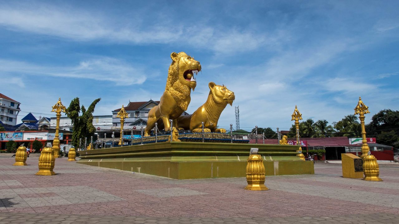 Der Golden Lion Circle von Sihanoukville
