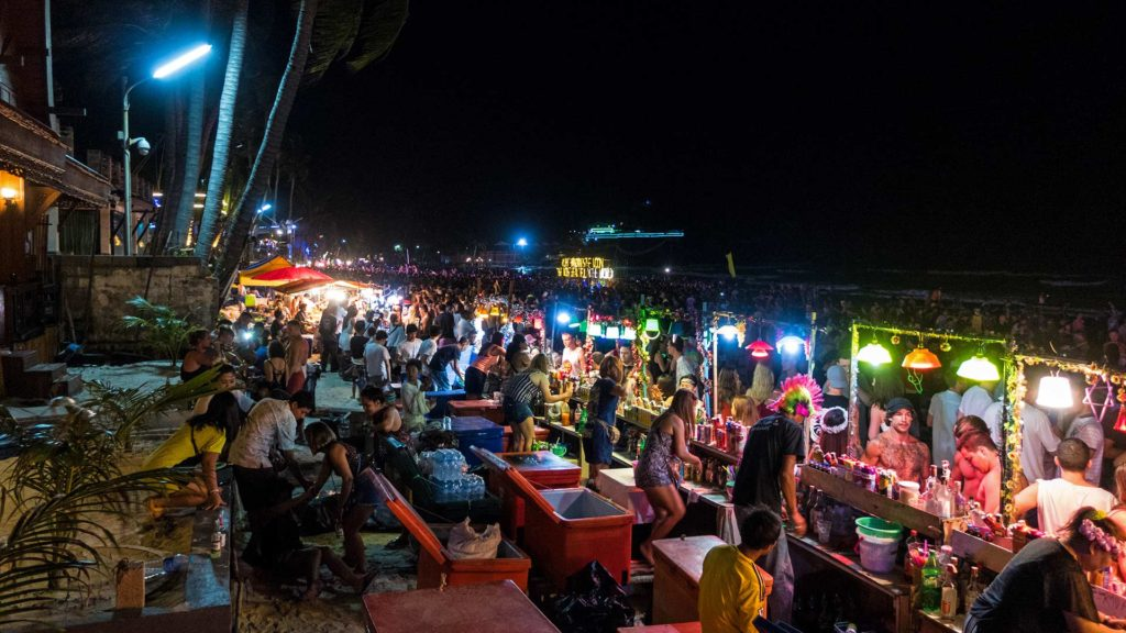 The Full Moon Party of Thailand on Koh Phangan