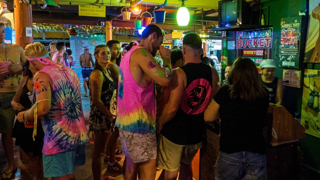 Pre-party at the Jaya Hostel before the Full Moon Party on Koh Phangan