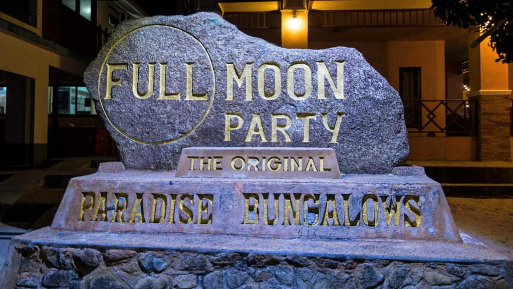 Paradise Bungalows, der Standort der original Full Moon Party auf Koh Phangan, Thailand
