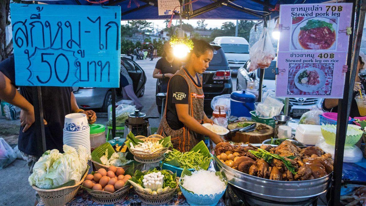 Verkäufer auf Koh Samuis Bophut Walking Street
