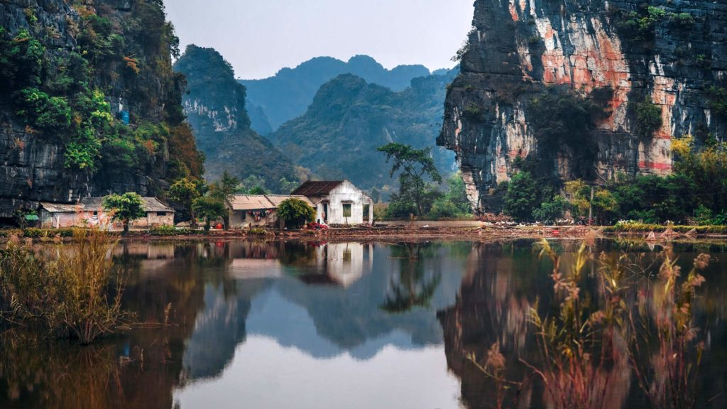 The town and countryside, Ninh Binh