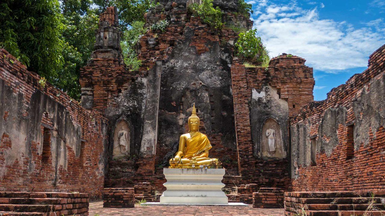Der unbekannte Tempel Wat Choeng Tha in Ayutthaya