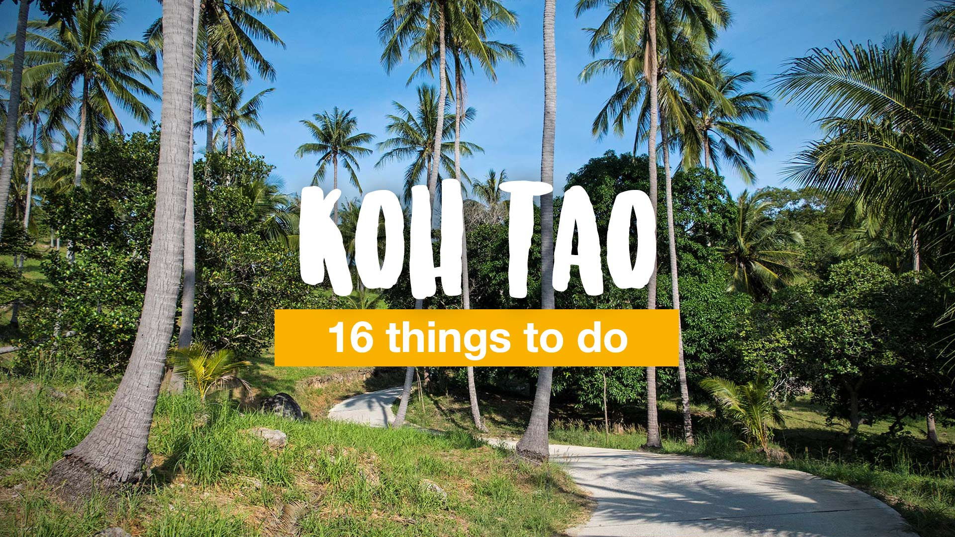 Koh Tao – 16 things to do | Travel blog about Southeast