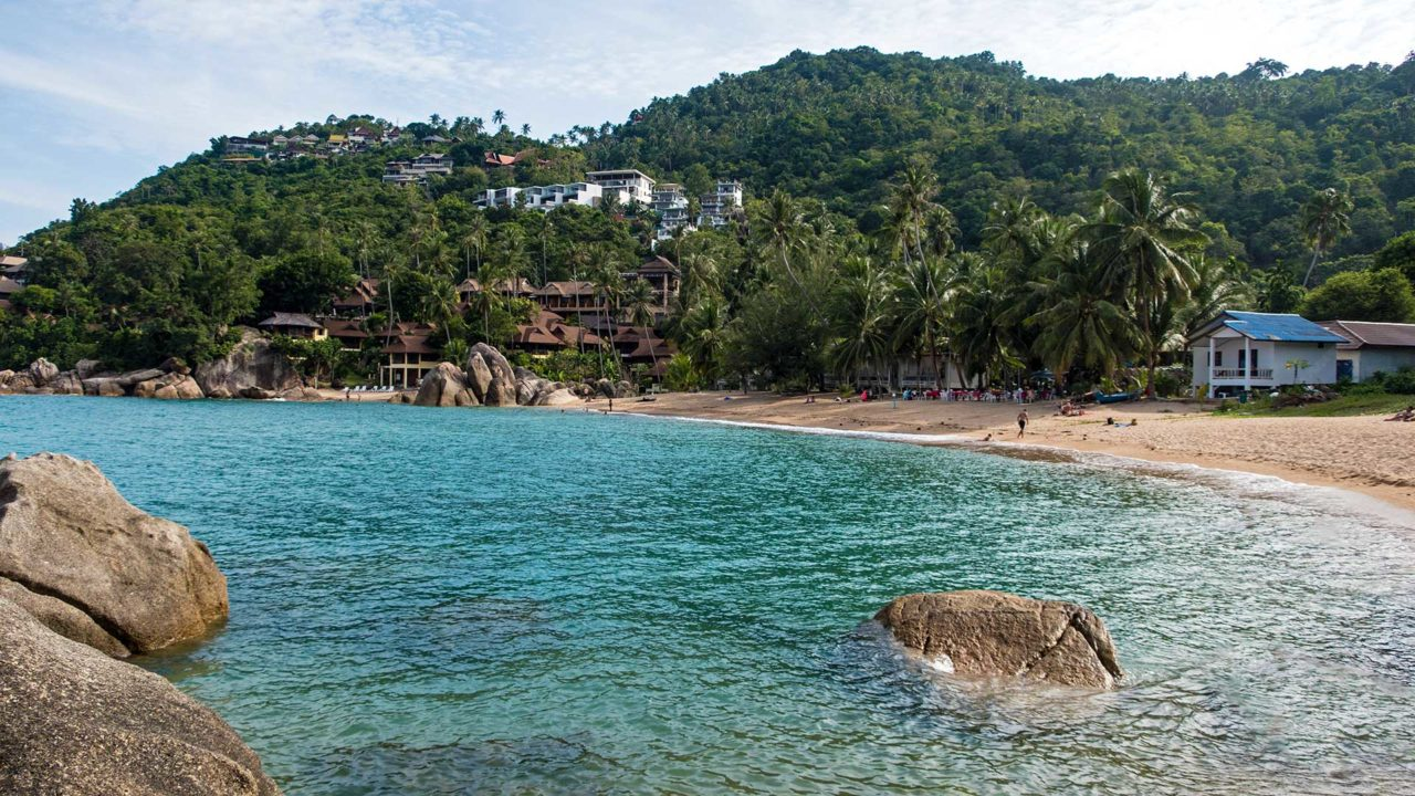 The Coral Cove Beach in the east of Koh Samui