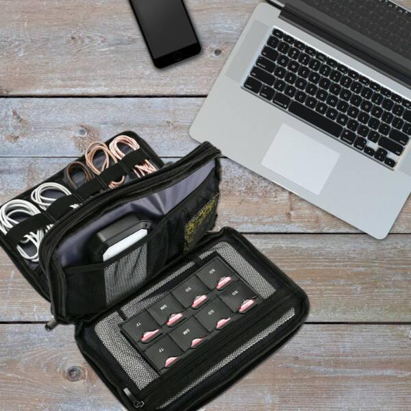 ProCase Universal Elektronik Zubehör Tasche, Portable Travel Gear Organizer