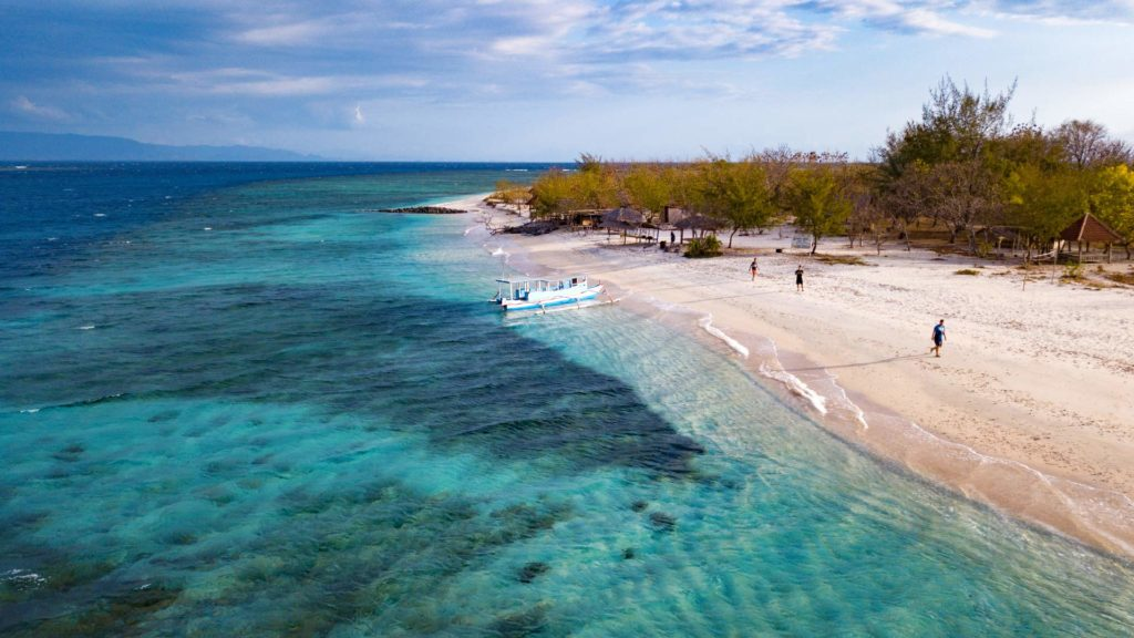 Gili Kondo in the east of Lombok taken with the drone