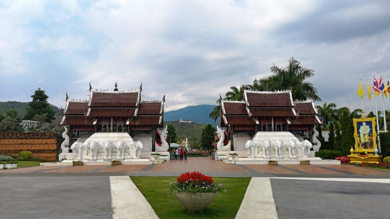 Eingang des Royal Park Rajapruek in Chiang Mai