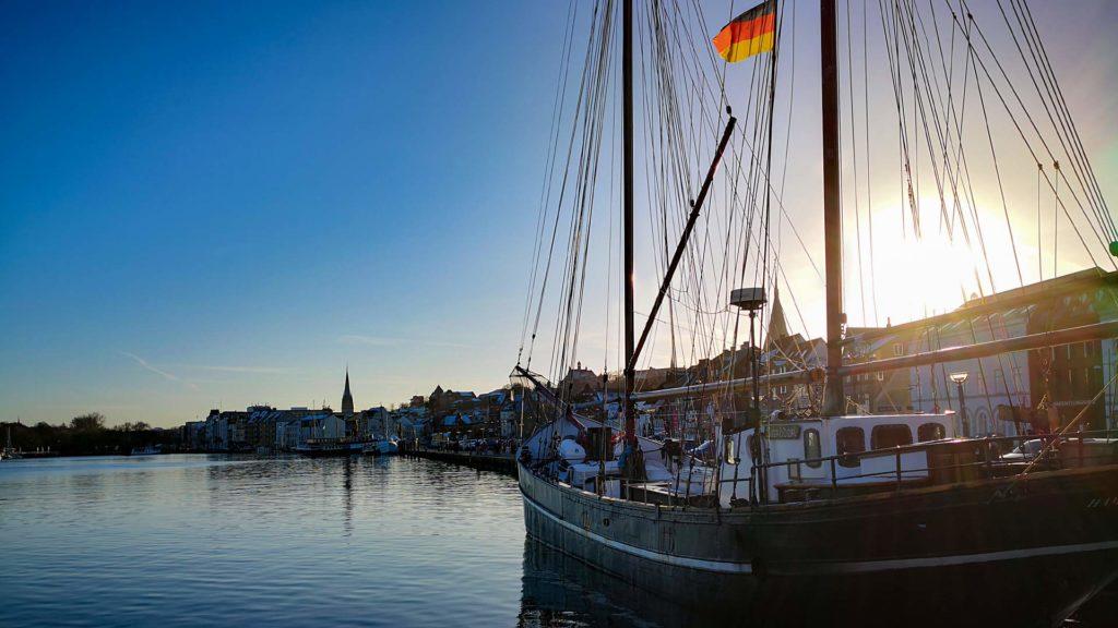 Sonnenuntergang am Flensburger Hafen