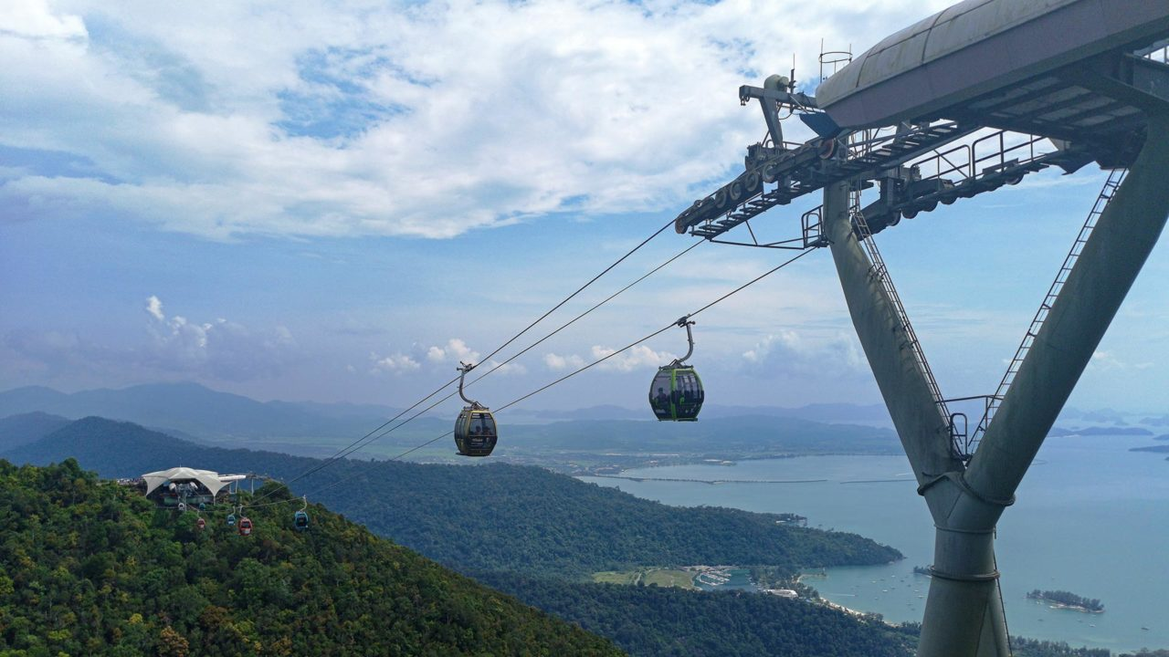 Das Langkawi Cable Car im Oriental Village
