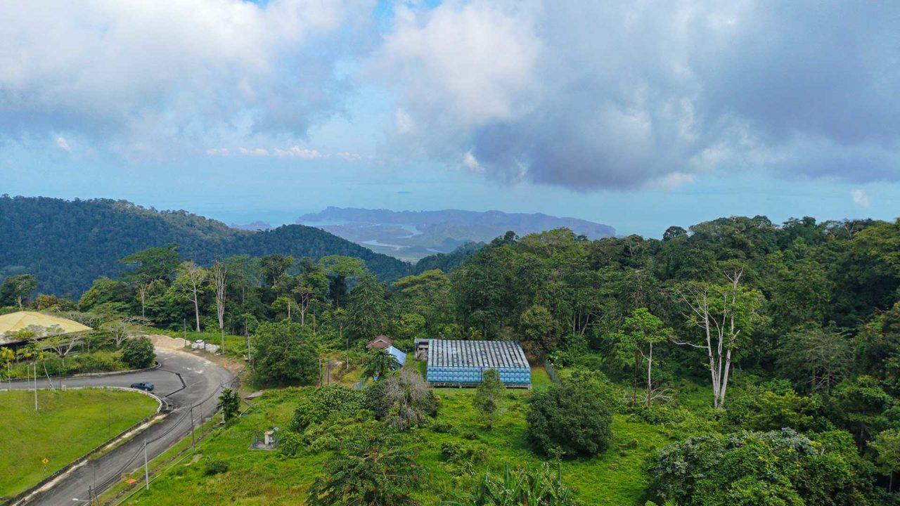 Aussicht vom Gunung Raya auf Langkawi