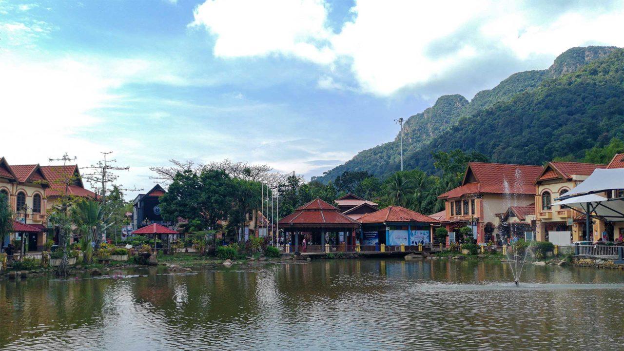 Aussicht auf das Oriental Village von Langkawi