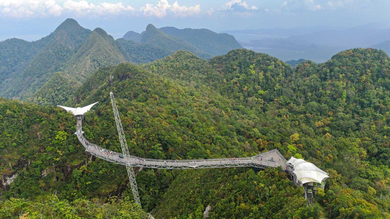 Der berühmte Sky Bridge von Langkawi