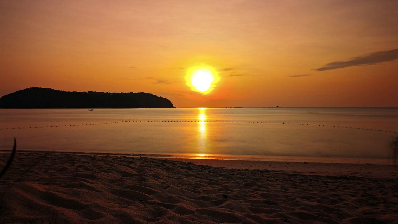 Sonnenuntergang am Tengah Beach