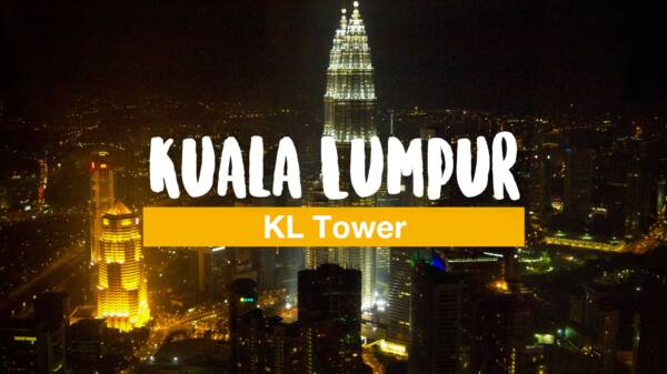 Above the roofs of Kuala Lumpur - the KL Tower at night