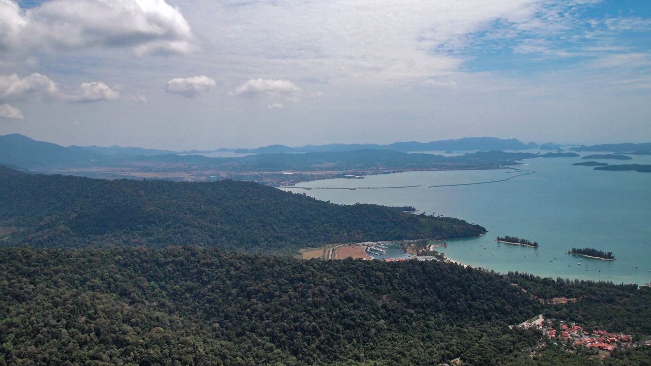 The view from the first platform of the Langkawi SkyCab