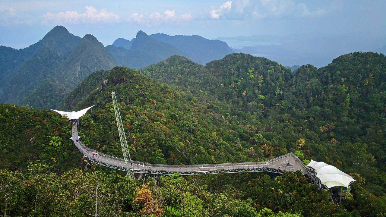 View at the Langkawi SkyBridge in the Oriental Village
