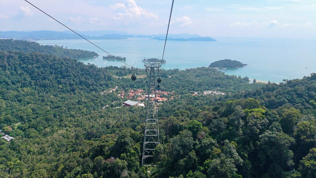 View from the SkyCab at the Oriental Village on Langkawi