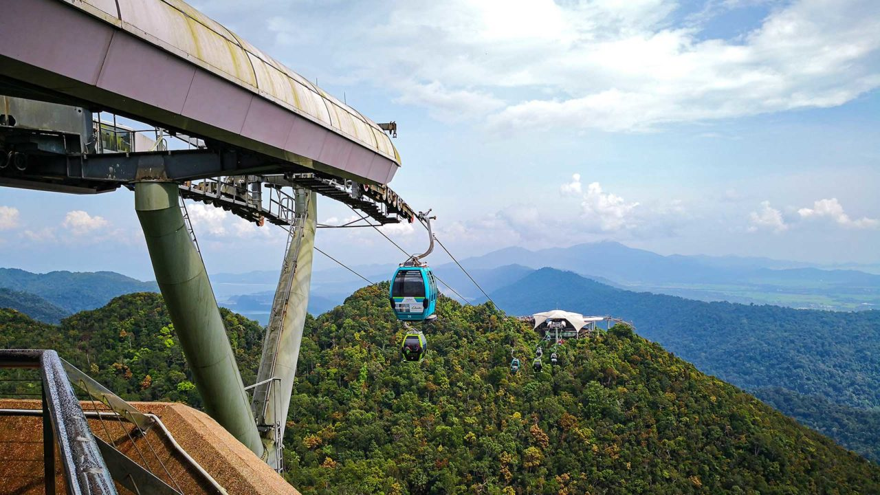 The Langkawi SkyCab in the Oriental Village