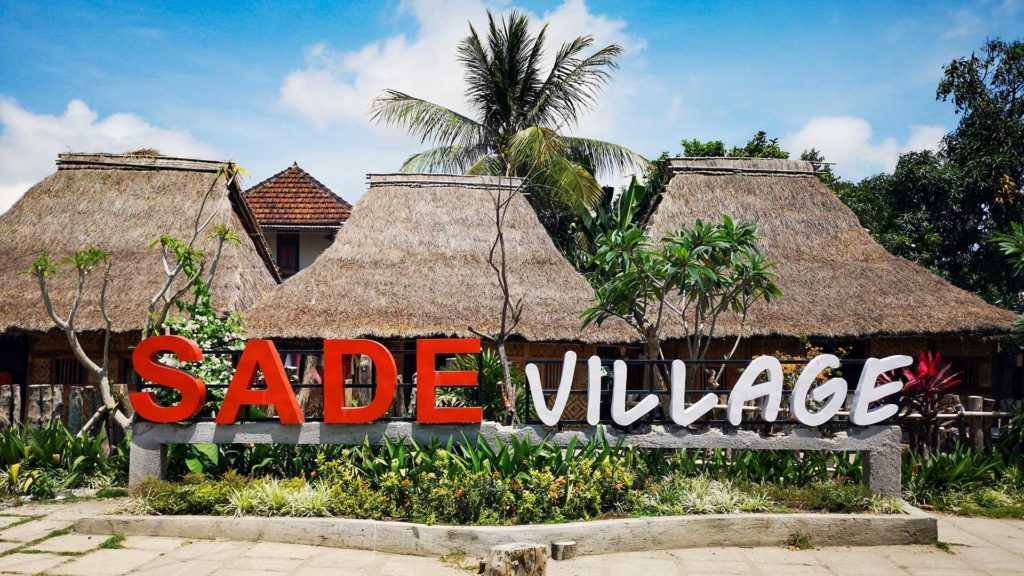 Sade Village; sign at the Sasak village Sade just before Kuta