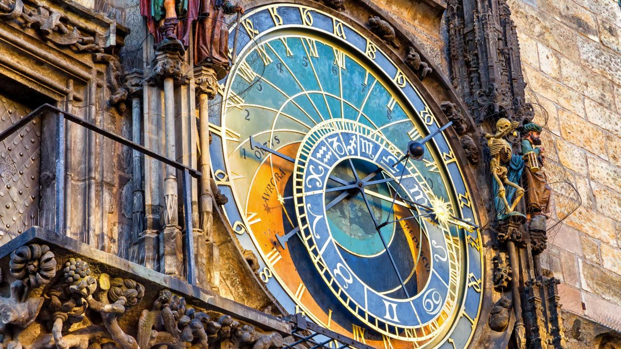 The Astronomical Clock at the town hall of Prague