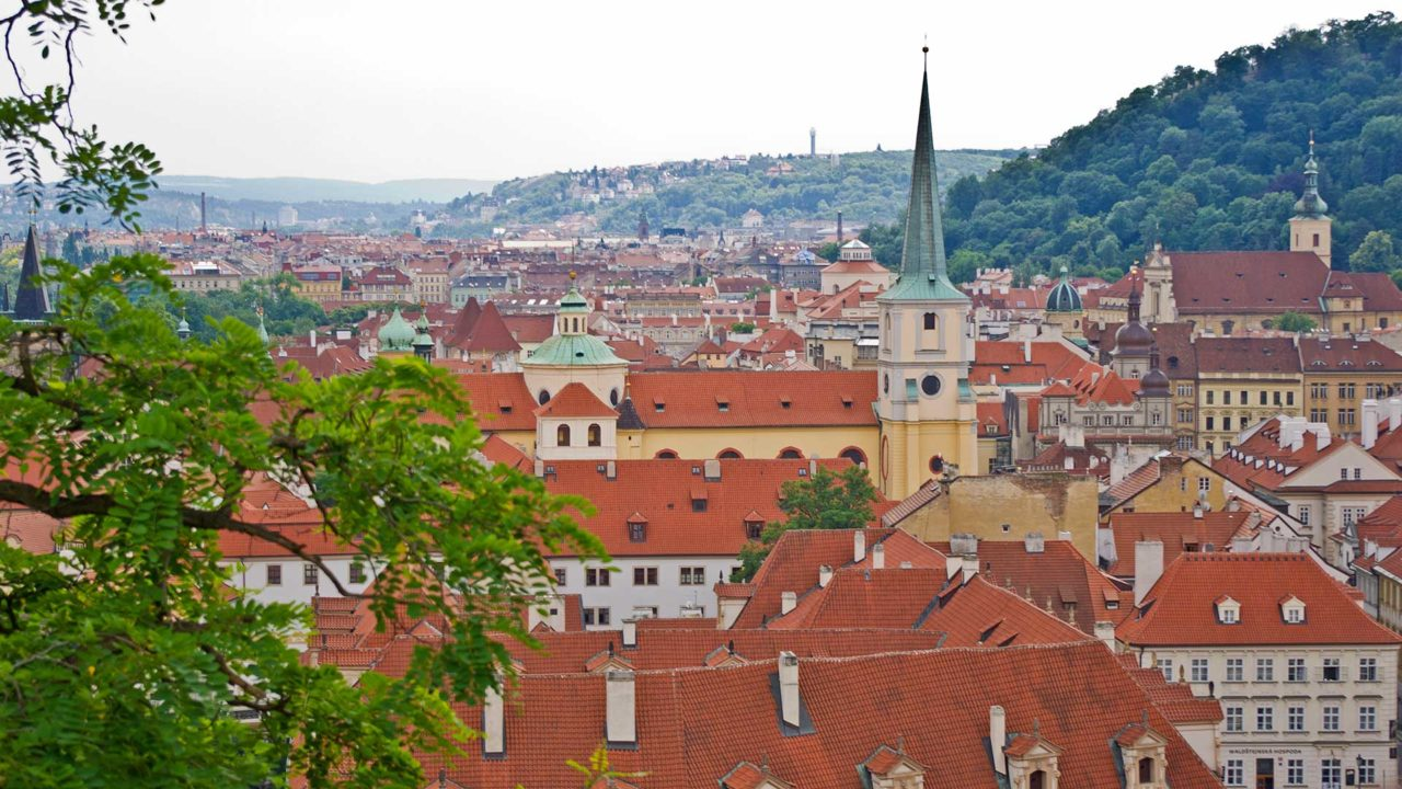 Beautiful view at the Old Town of Prague