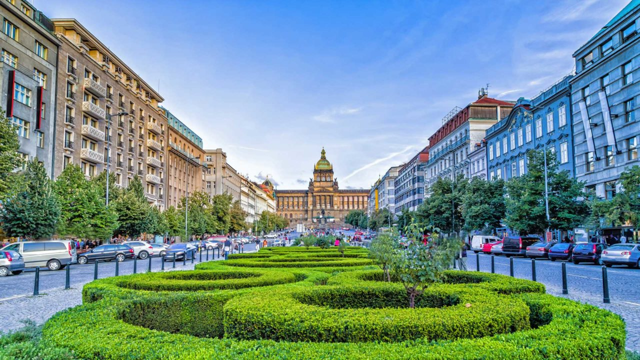 The Wenceslas Square in Prague