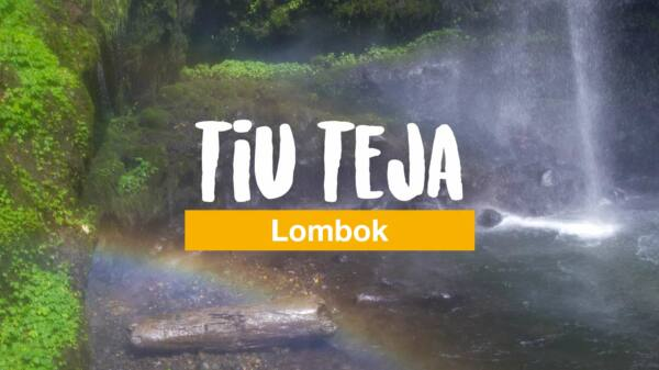 Tiu Teja - the rainbow waterfall in the north of Lombok