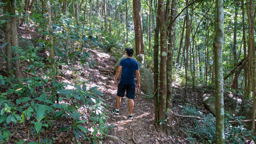 Marcel on the way through the jungle to the Bottle Beach Viewpoint on Koh Phangan