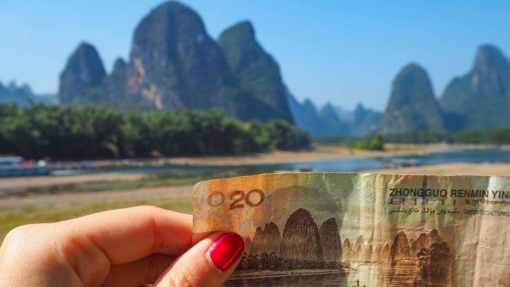 20 Yuan bill in Xingping