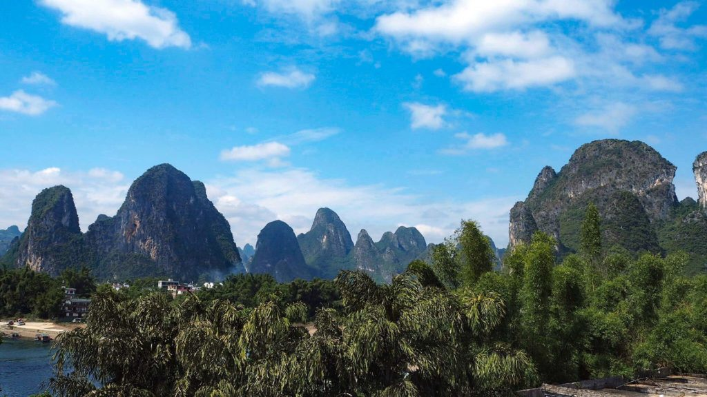 View of the rocks of Xingping, China