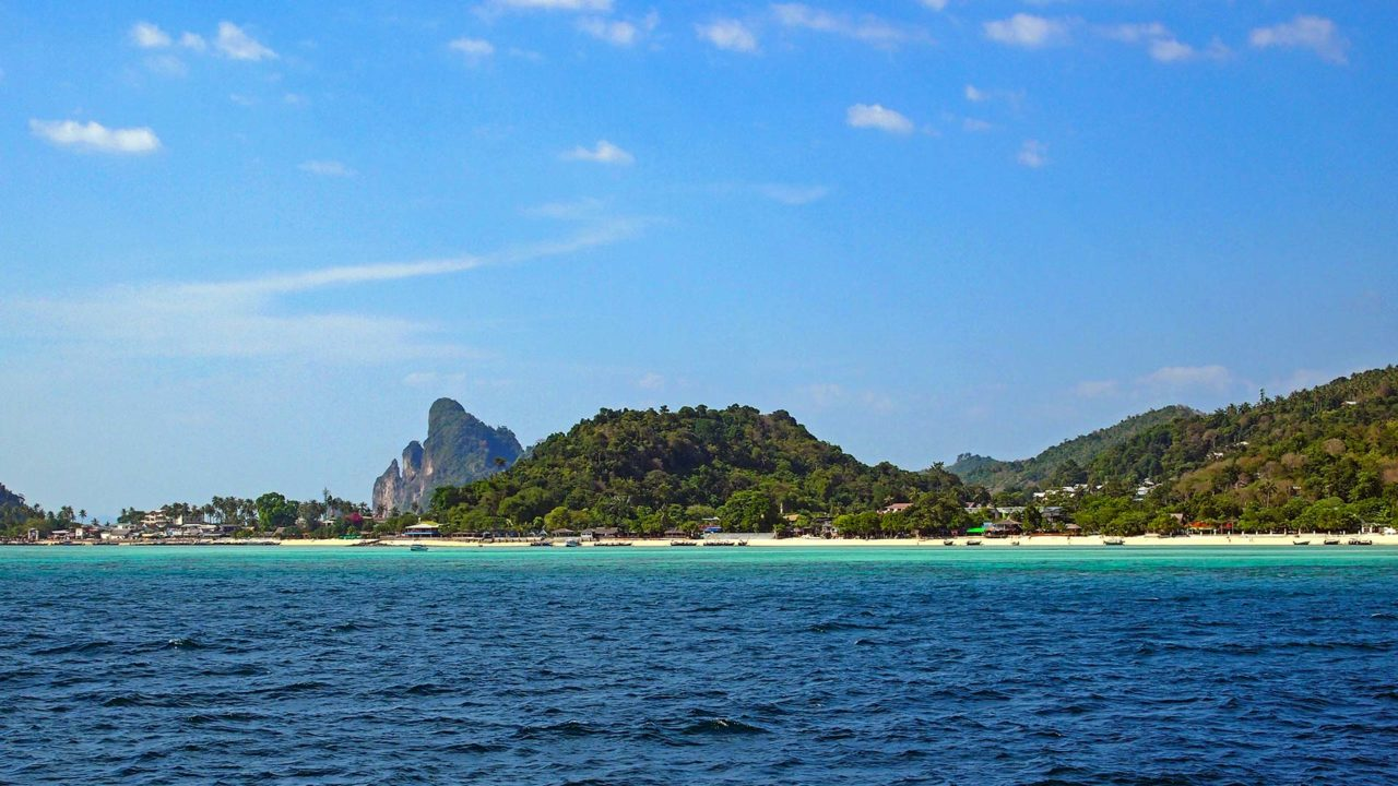 The view of Koh Phi Phi Don