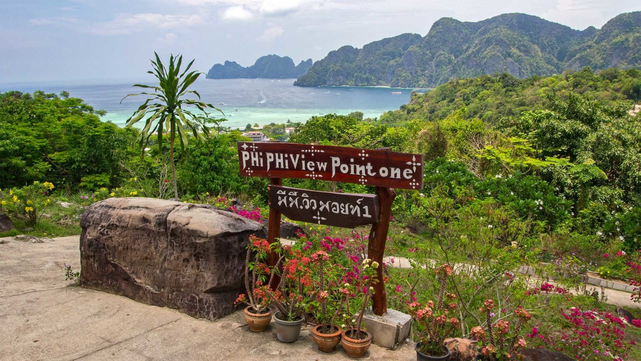 The first Koh Phi Phi viewpoint