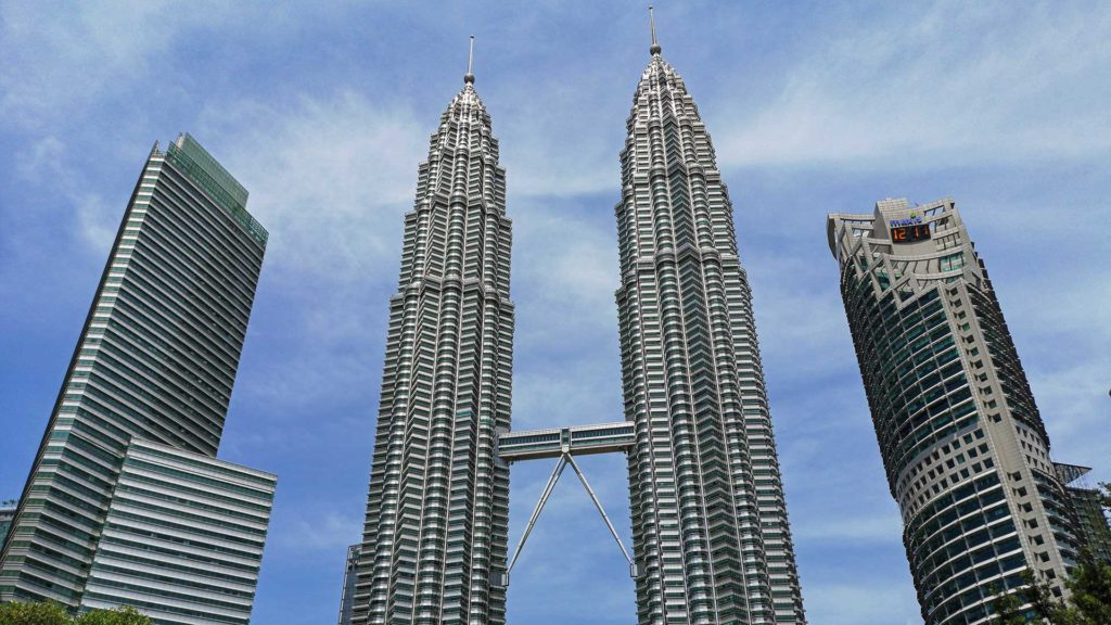 The famous landmark of Kuala Lumpur, the Petronas Twin Towers