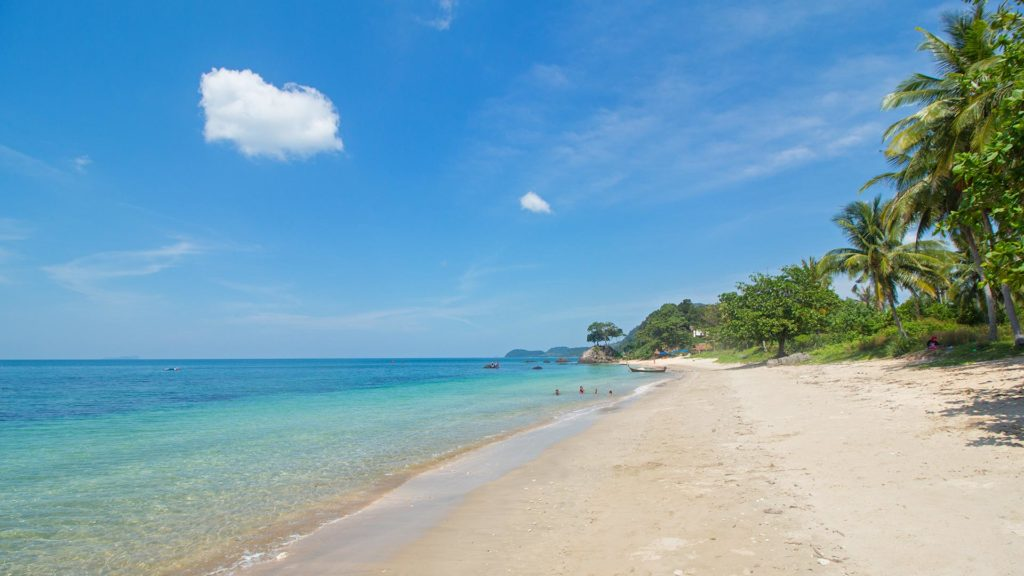 The beach on the lonely island of Koh Jum, Krabi, Thailand