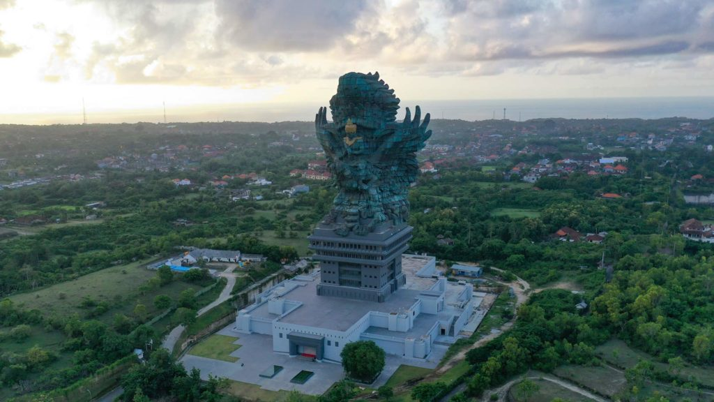 The giant statue Garuda Wisnu Kencana and surroundings, Bali