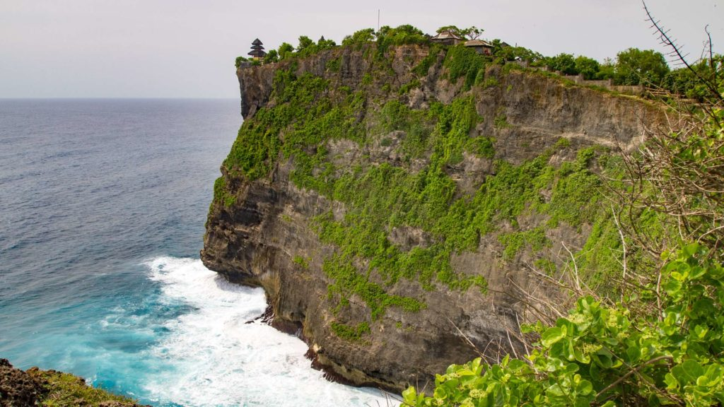 Cliffs at Pura Luhur Uluwatu in Bali