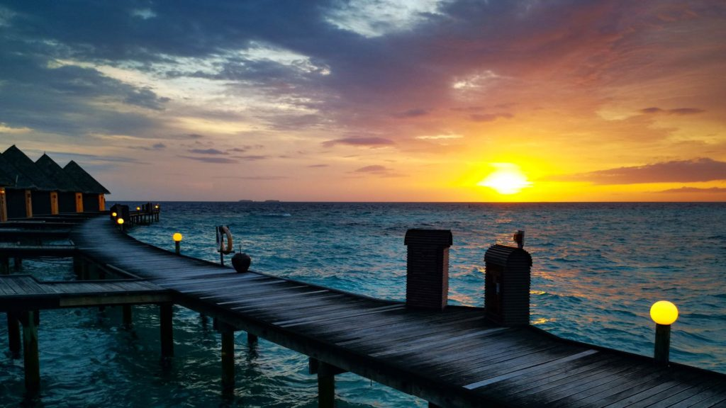 Fantastic sunset in the Maldives