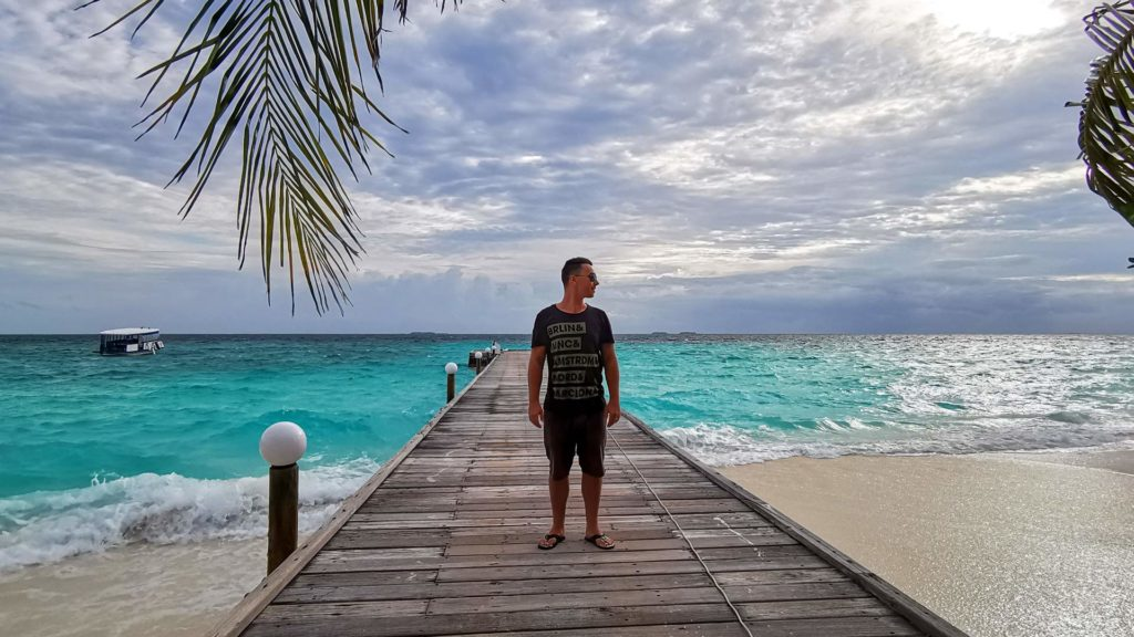 Marcel on Thulhagiri Island in the Maldives
