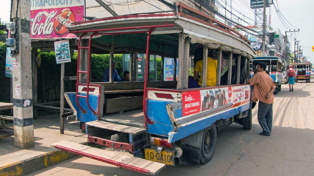 The local bus to the Old town of Sukhothai