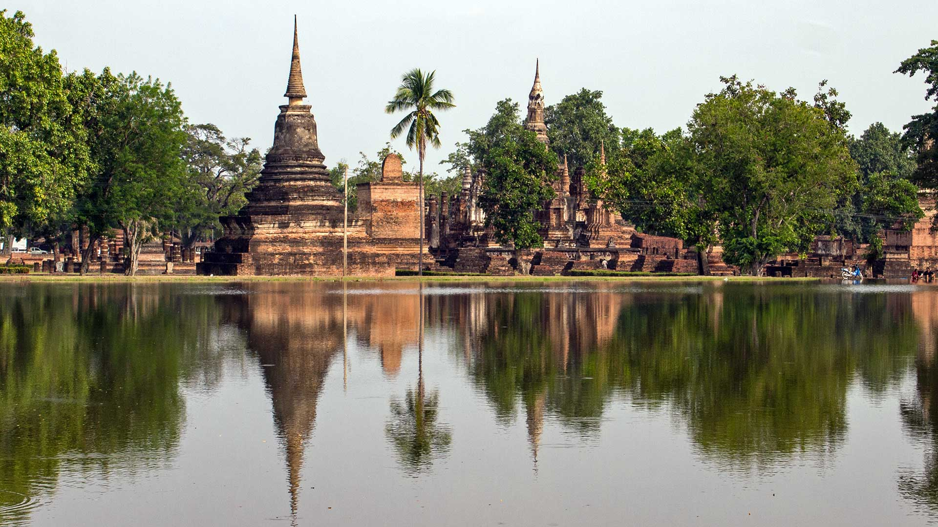 A Day In The Historical Park Of Sukhothai
