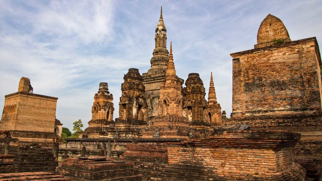 In the Wat Mahathat of Sukhothai